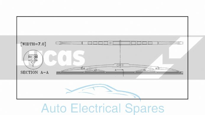 Lucas conventional wiper blade 20